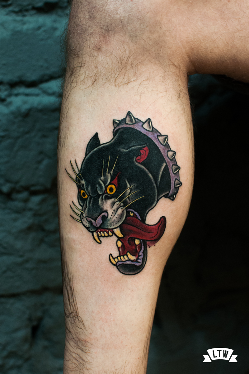 Panther tattooed by Rafa Serrano