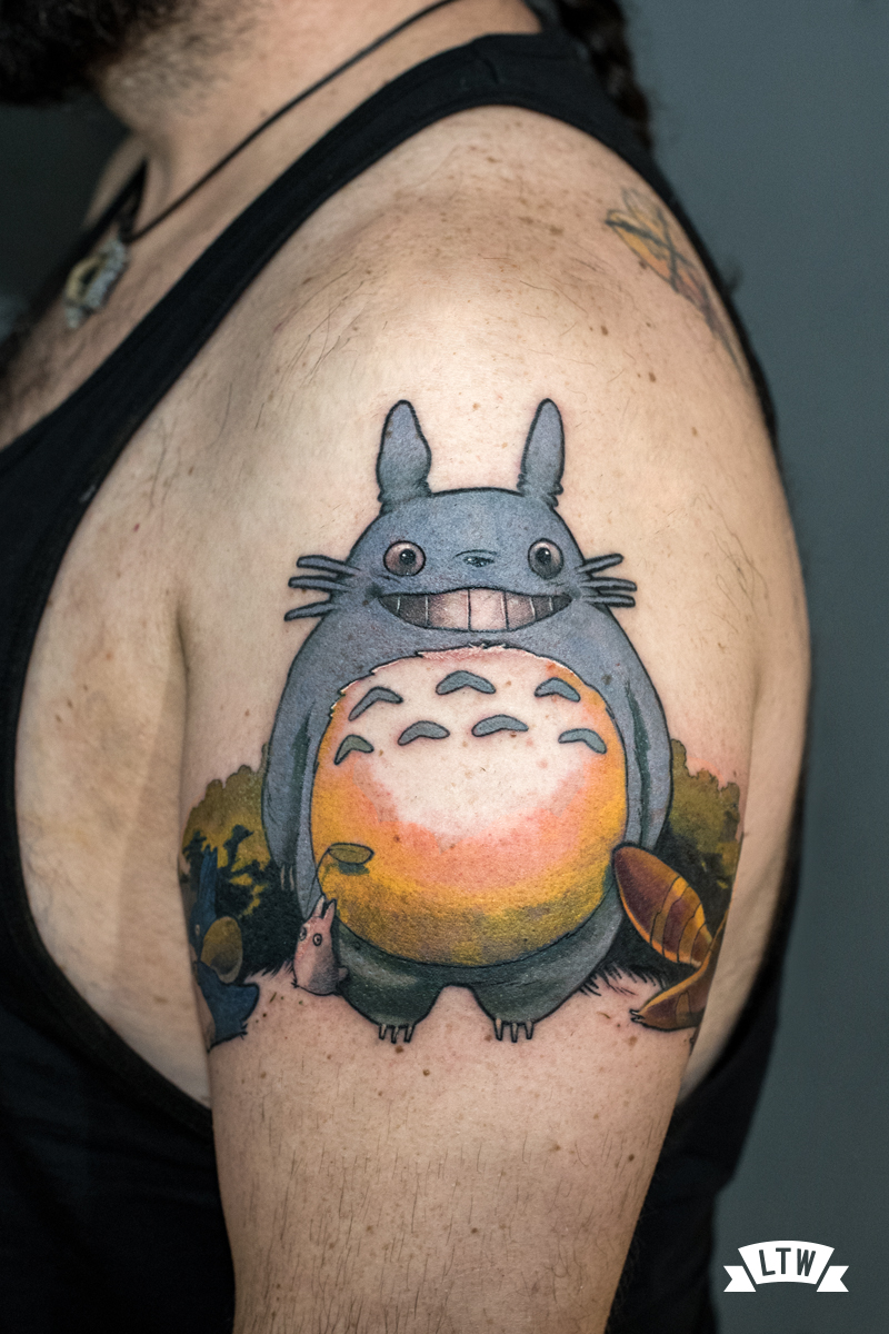 Totoro tattoo done by Man