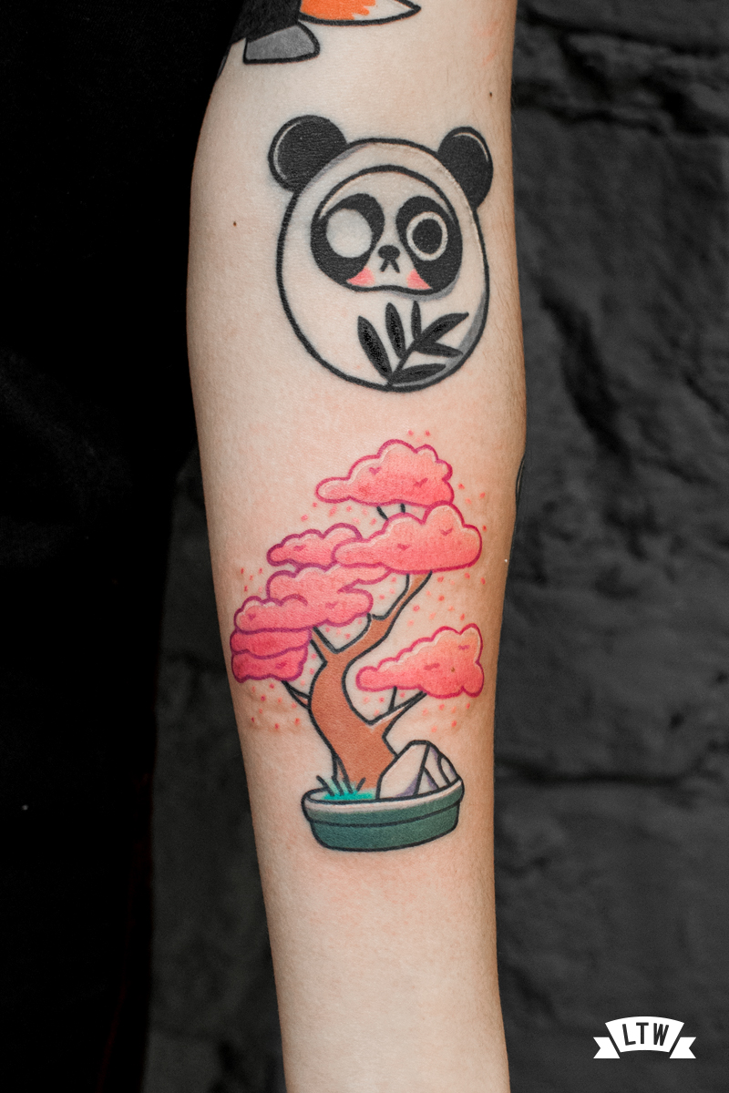 Bonsai tattooed by Numi