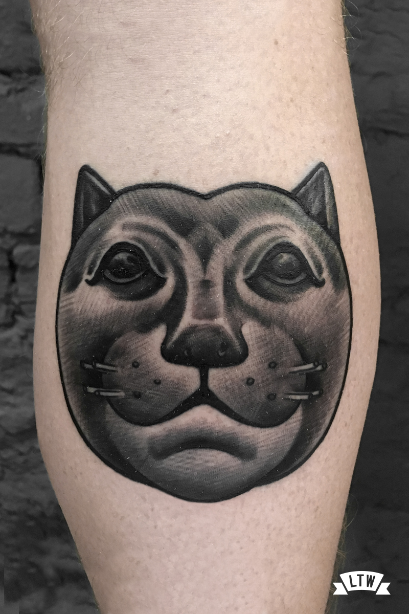 Botero cat done by Andrés