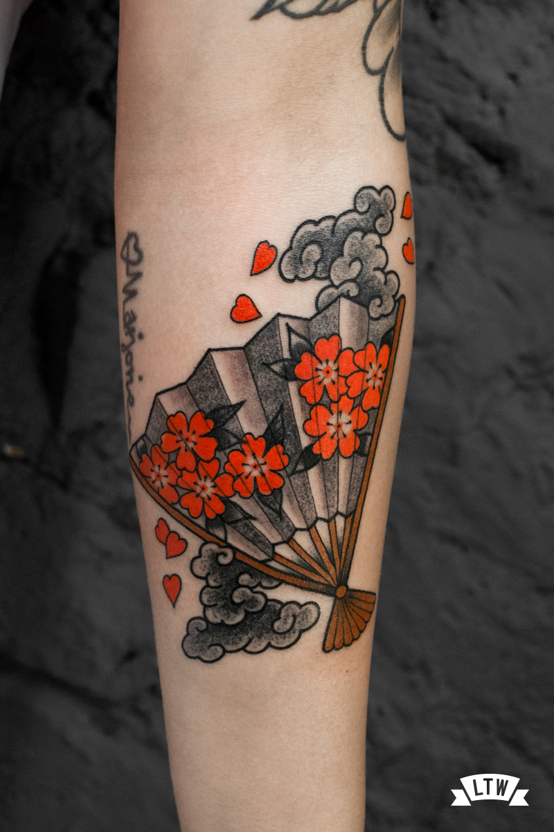Japanese fan tattooed by Nutz