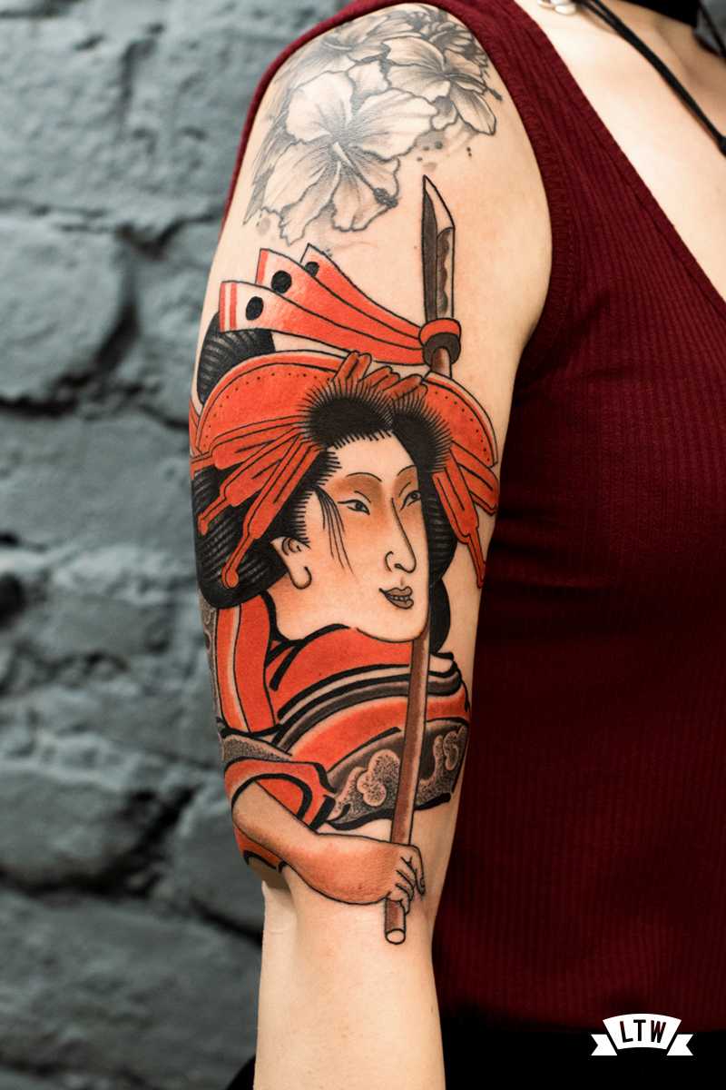 Geisha tattooed by Nutz