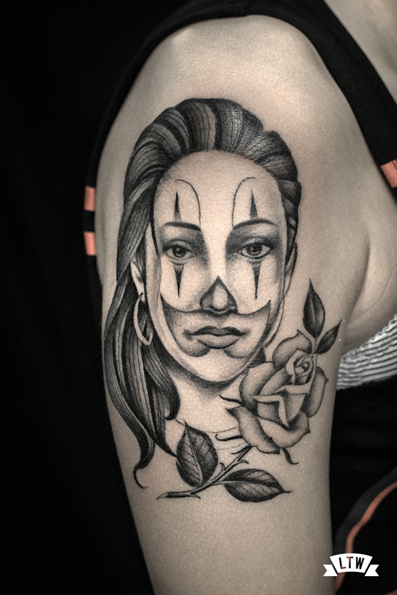 Chicana girl tattooed by Alexis