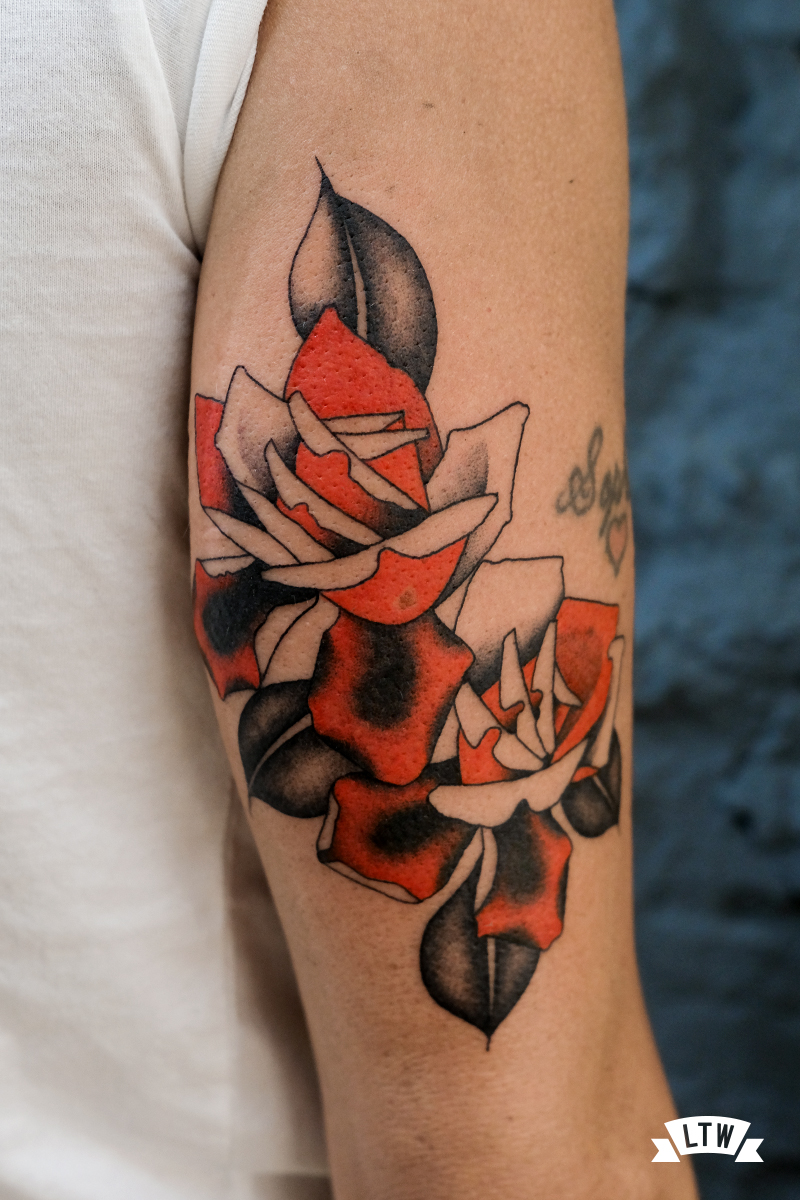 Roses tattooed by Ariadna