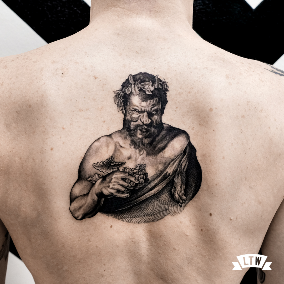 Satyr tattooed by Andreu